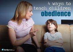 FamilyShare.com l 4 ways to teach children obedience