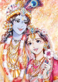 Radha Krishna Holi, Radha Krishna Quotes, Lord Krishna Images, Radha Krishna Pictures, Krishna Art, Radhe Krishna, Radha Krishna Sketch, Krishna Songs, Krishna Leela