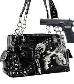 Dual Six-Shooter Shoulder w/Studs(Concealed Carry Purse) HANDBAGS - BLACK ANYTHINGEVERYTHINGSHOP http://www.amazon.com/dp/B00G63A8E8/ref=cm_sw_r_pi_dp_I6o3wb0TE0KZ6