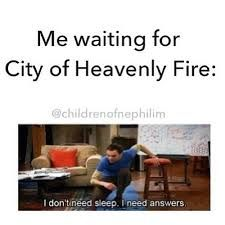 city of heavenly fire - Google Search