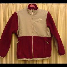 North Face Denali jacket. Woman's Denali jacket rare maroon color great condition North Face Jackets & Coats