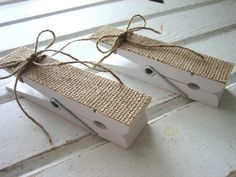 Kids Art Wall Clips -Burlap Clothespins. Etsy.