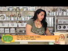 Art Craft - Tutorial 55 - Laura Patterson - Decoupage con hojas de libro - YouTube