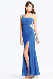 sapphire blue silk sequin one-shoulder dress with slit - Google Search