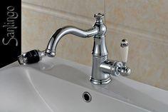 Extraordinary Bath Basin Tap Ceramic Handle Grip Glass Crystal Chrome Sanlingo in Home, Furniture & DIY, Bath, Taps   eBay