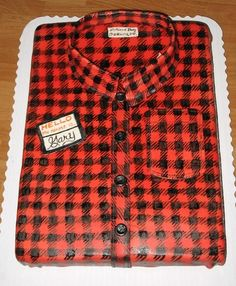Flannel grooms cake