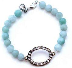 Rhinestone and Bead Bracelet | AllFreeJewelryMaking.com