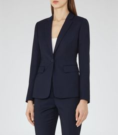 REISS - INDIS JACKET SINGLE-BREASTED BLAZER