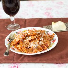 Bow-Tie Pasta in Herbed Red Sauce.  Main Dishes - Pasta, Vegetarian, Italian