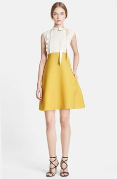 Valentino Ruffle Bodice A-Line Crepe Dress available at #Nordstrom