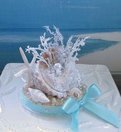 Seashell Wedding Cake Topper designed by CeShoreTreasures