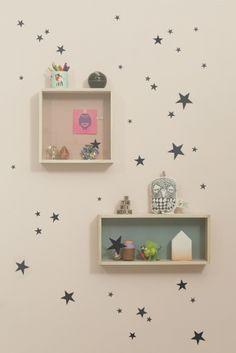 Ferm Living wallstickers, sorte stjerner