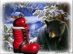 Krásny mikulášsky deň Black Bear, Gifs, Animation, Facebook, Amazing, Christmas, Photos, Animals, Beautiful