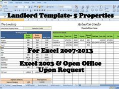 landlords spreadsheet template rent and expenses spreadsheet short term rentals 5 property template