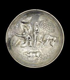 A Sasanian silver-gilt royal plate. Iran, circa 4th-5th Century A.D.