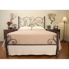 Features:  Frame Material: -Metal.  Number of Items Included: -3.  Pieces Included: -Headboard, footboard, and frame/rails.  Headboard Included: -Yes.  Footboard Included: -Yes.  Box Spring Required: