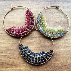 NASHELLE: Handmade Hoop Earrings   14k Gold Fill earrings   Gold Earrings