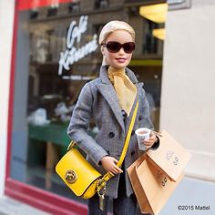 """Starting my day at the newest Café outpost in the ""SoPi"" neighborhood of Paris, ""c'est très cool ! Barbie Life, Barbie World, Barbie And Ken, Barbie Style, Barbie Dress, Barbie Clothes, Barbies Pics, Made To Move Barbie, Barbie Fashionista Dolls"