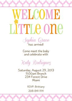 meet the baby party invitation wording