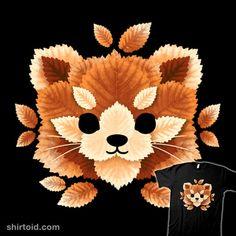Red panda of leaves | Shirtoid #leaf #leaves #nemimakeit #noemifadda #redpanda