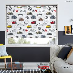 Disney Collection Disney Pixar Cars Blackout Roller Blind in White/Multicoloured. This Blackout Roller Blind includes guarantee and child safety features. Car Window Blinds, Skylight Blinds, Panel Blinds, Blackout Blinds, Blinds For Windows, Skylights, Blinds For Sale, Fitted Blinds, Made To Measure Blinds