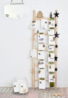 calendrier Avent fabriquer décoration-scandinave Noël