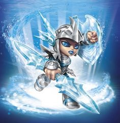 Blizzard Chill - Visit us at SkylanderNutts.com for more information on Blizzard Chill, retailers, reviews, unboxing and gameplay videos and more. Skylanders Swap Force Characters, Donkey Kong Country, Hero Girl, Star Citizen, Game Character, Cartoon Art, Chill, Video Games, Pokemon