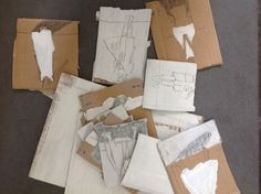 Some cardboard small works July 2014