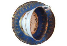 Royal Grafton Blue Harp Cup & Saucer