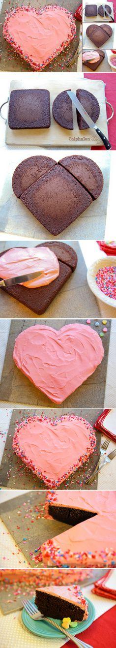 Valentine's Day Heart-Shaped Cake Recipe