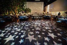 star themed wedding idea - dance floor stars