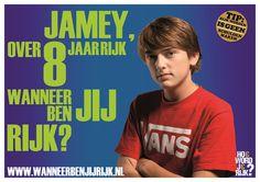 Poster 'Hoe word je rijk?' * by Alan Bredenhorst   125Procent