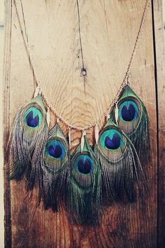Peacock Feather Necklace #feathers #peacock #necklace