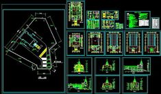Christian Church architectural drawing-AutoCAD Blocks-Crazy 3ds