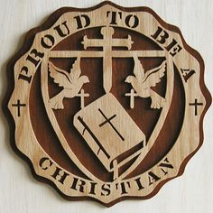 Hey, I found this really awesome Etsy listing at https://www.etsy.com/listing/103605244/proud-to-be-a-christian-plaque-cut-on