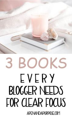 Starting a blog while working full time is hard work. I found three books that helped me to get rid of shiny object syndrome and focus on the steps that are most important for my business. These books provide clear focus for bloggers. #productivity #blogging #essentialism #intentional via @marlena_larson