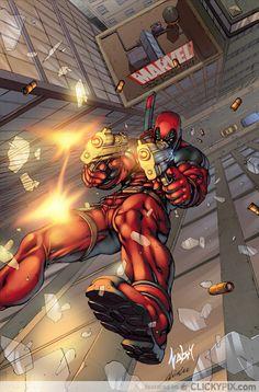 Deadly and Fun Deadpool Fan Art