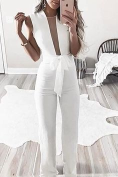bf0be2da2f74 Shop Sexy Sleeveless Belted Jumpsuit – Discover sexy women fashion at IVRose