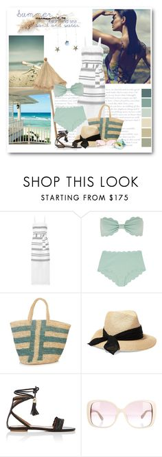 """Beachy, Beach!"" by bliznec ❤ liked on Polyvore featuring Lemlem, Marysia Swim, Sensi Studio, Eugenia Kim, Aquazzura and Valentino"