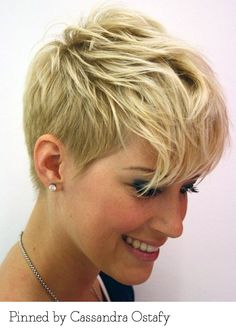 Pixie cut pinned by Cassandra Ostafy. Recreate it here: http://myhairdressers.com/hairdressing-training/classics-hair-cutting/short-graduated-layering.html