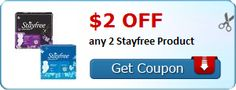 New Coupon!  $2.00 off any 2 Stayfree Product - http://www.stacyssavings.com/new-coupon-2-00-off-any-2-stayfree-product/