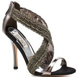 LinkBADGLEY MISCHKA: LSRA - PEWTER MET   SKU: ZBGM127    Sizes Available:  55½66½77½88½99½101112  $209.99  Don't see your size?  You'll achieve movie star status in these metallic pumps from Badgley Mischka. LSRA features awe inspiring gunmetal embellishments that adorn the criss crossing straps . A single pewter strap at the vamp and a 4 inch heel completes this ravishing style.    VIDEO  SIZE CHART  ADD TO CART  ADD TO WISHLIST  SIZE SELECTED:   In Stock & Ready To Ship!  GET EMAIL ALERTS…