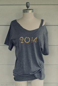 DIY Summer  : DIY Glitter 2014 Tee-shirt,