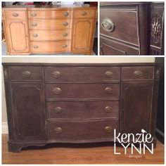 "Just finished reNEWing an Antique Buffet ""Restoration Hardware"" style."