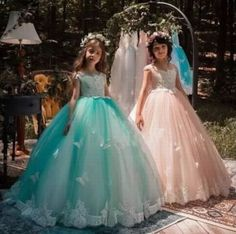 Girls Pageant Dress Princess Gown Flower Girl Dresses Butterfly Kids Formal Gown on Luulla Girls Pageant Dresses, Pageant Gowns, Party Gowns, Little Girl Dresses, Ball Dresses, Ball Gowns, Flower Girl Dresses, Prom Party, Flower Girls