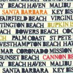 #sewmamasew Beach Bum Fabric by Lucy's Crab Shack. This would make a fun beach bag!
