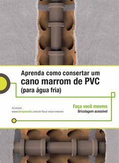Você mesmo pode consertar os canos marrons de PVC da sua casa. Veja como, com a nossa Ficha de Bricolagem. http://leroy.co/28S6BsT