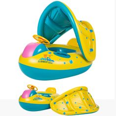Baby Swimming Float Inflatable Olycism Pool Boat Sunshade Seat with Sun Canopy Adjustable removable for kids children Floating Toys sun protection. Premium and safety -- Made of eco-friendly extremely durable PVC and Non-toxic ink printing. Thicken and high quality material gives baby a safe and fun way to enjoy the time in water. Sunshade and super comfortable --Super cute patterns designed for babies, comes with a sun Adjustable removable canopy which attaches and detaches easily…