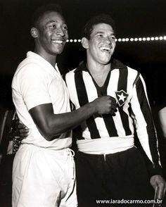 IARA DO CARMO. Colunista Social CRAQUES Pelé, no Santos Futebol Clube e Mané Garrincha no Botafogo, em 1959.