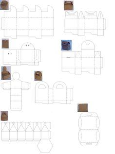 Pintei e Bordei by Monique Igarachi: Moldes de caixas de papel